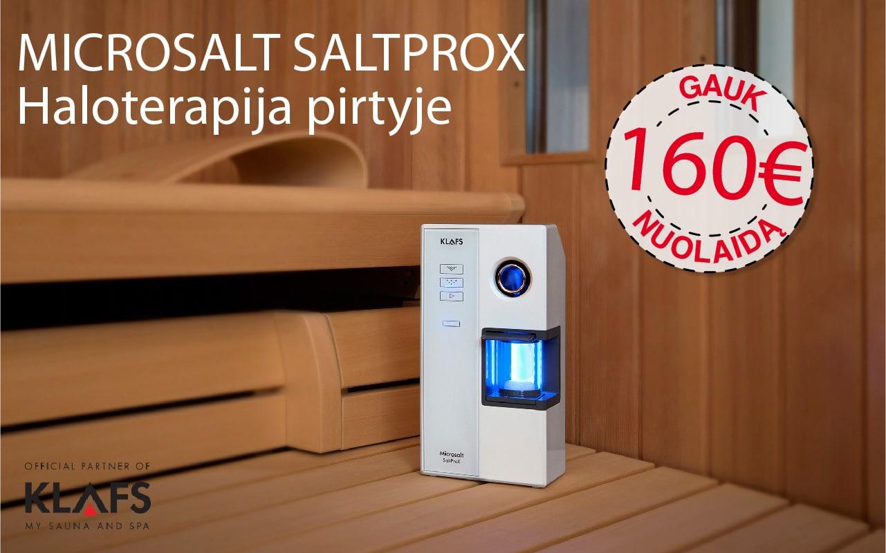 160€ nuolaida Microsalt SaltProX inhaliacijos įrenginiui.